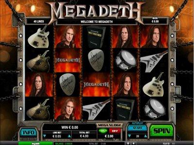 Slot zur Band Megadeth